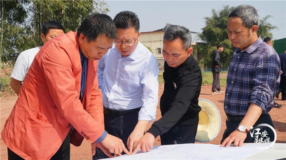 江安县委书记李强率队调研农联常务理事单位鳗鱼水产现代农业园区建设
